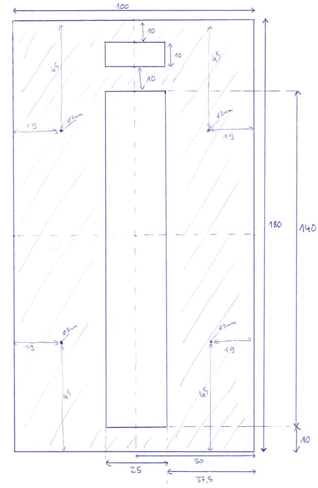 Schéma de découpe de l'étage 1
