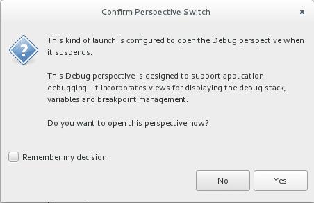 Un message vous informant que vous lancez un programme en Debug et qu'il sera suspendu en début de programme car aucun point d'arrêt n'a été spécifié. Cliquez sur oui.