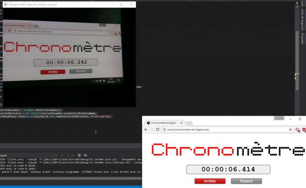 Mesure de la latence avec GStreamer <-> GStreamer : 172ms de décalage !
