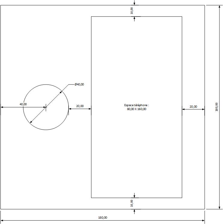 Schéma du plateau de recharge.