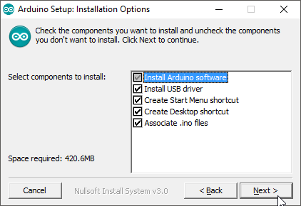 Arduino Setup - Installation Options