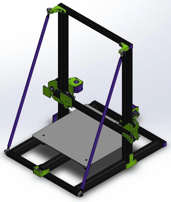 Superstructure avec portique hyperstatique