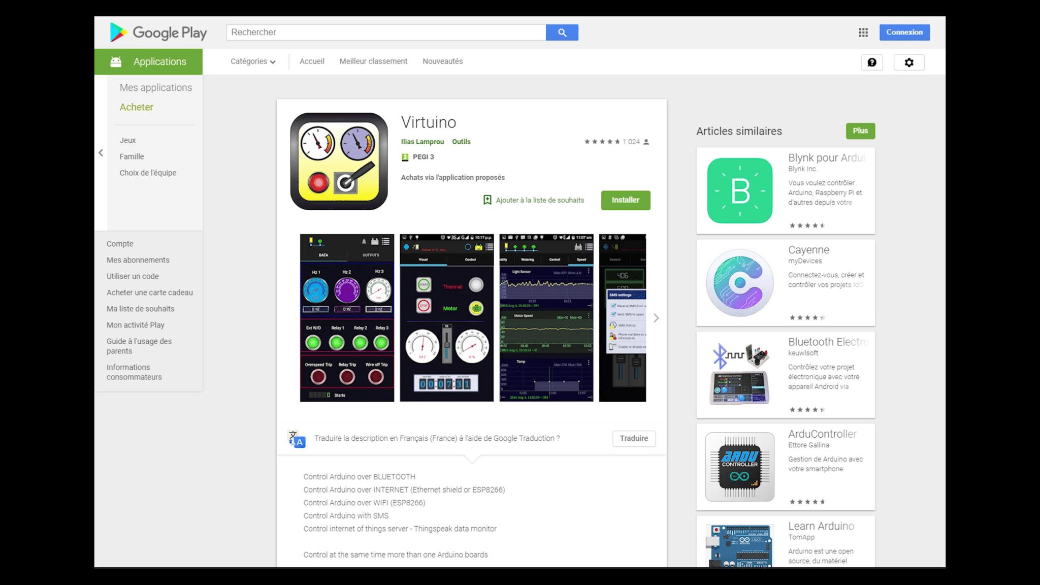 Google Play Store Virtuino
